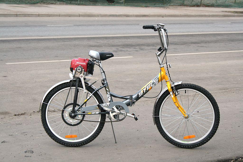 Как сделать мотор на бензине для велосипеда
